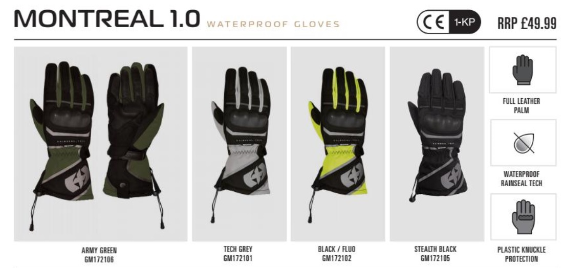 Oxford Montreal 1.0 glove