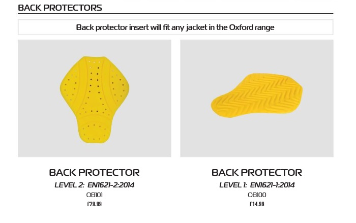 Oxford Back protector