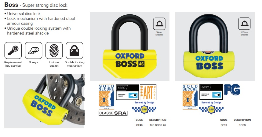 Oxford Boss super strong disc lock
