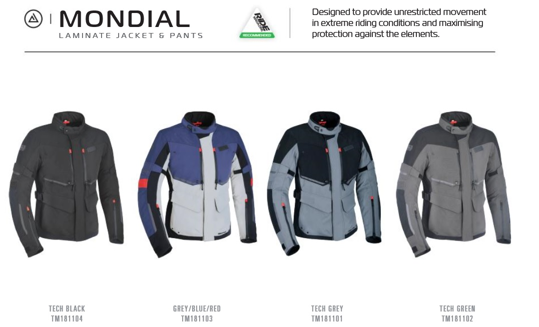 Oxford Mondial Laminate textile jacket