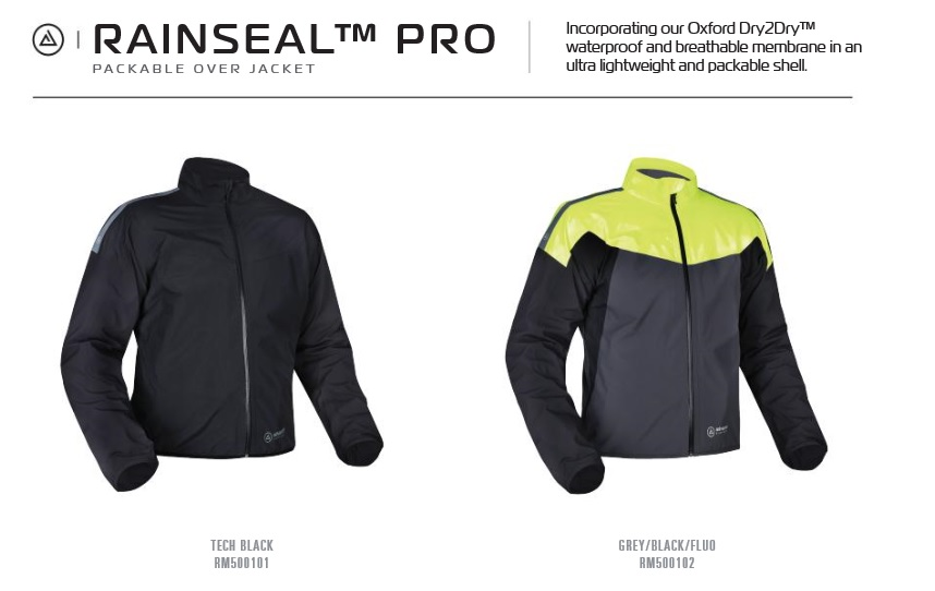 Oxford Rainseal pro textile jacket