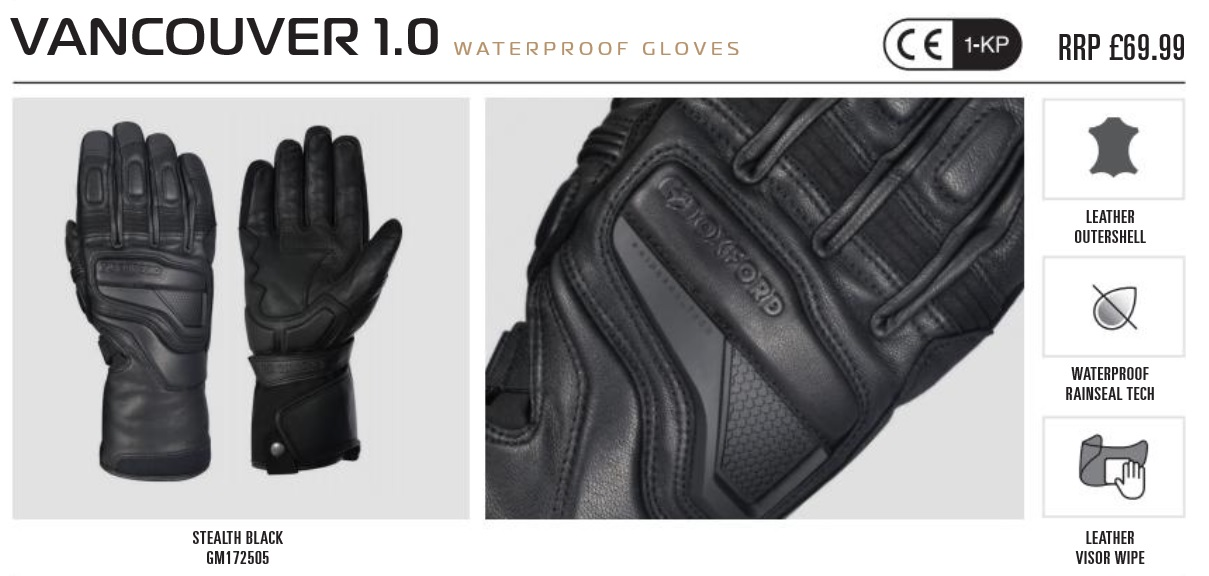 Oxford Vancouver 1.0 glove
